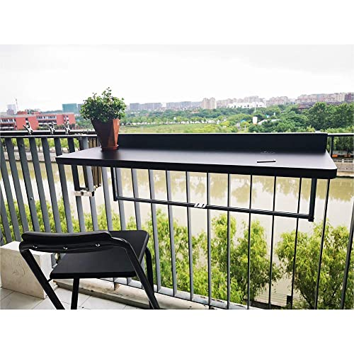 SHBV Mesa suspendida para balcón, barandilla de Metal, aleación de Aluminio, Mesa Colgante Plegable, Moderna Barra de Bar para el hogar, Escritorio de Pared, Escritorio de Ocio