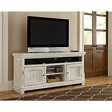Progressive Furniture Willow 64  Console, Distressed White