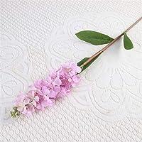 造花 80cmの造花diy蘭の花の偽の花ブーケ配置の結婚式の家の装飾秋 (Color : Pink Purple)