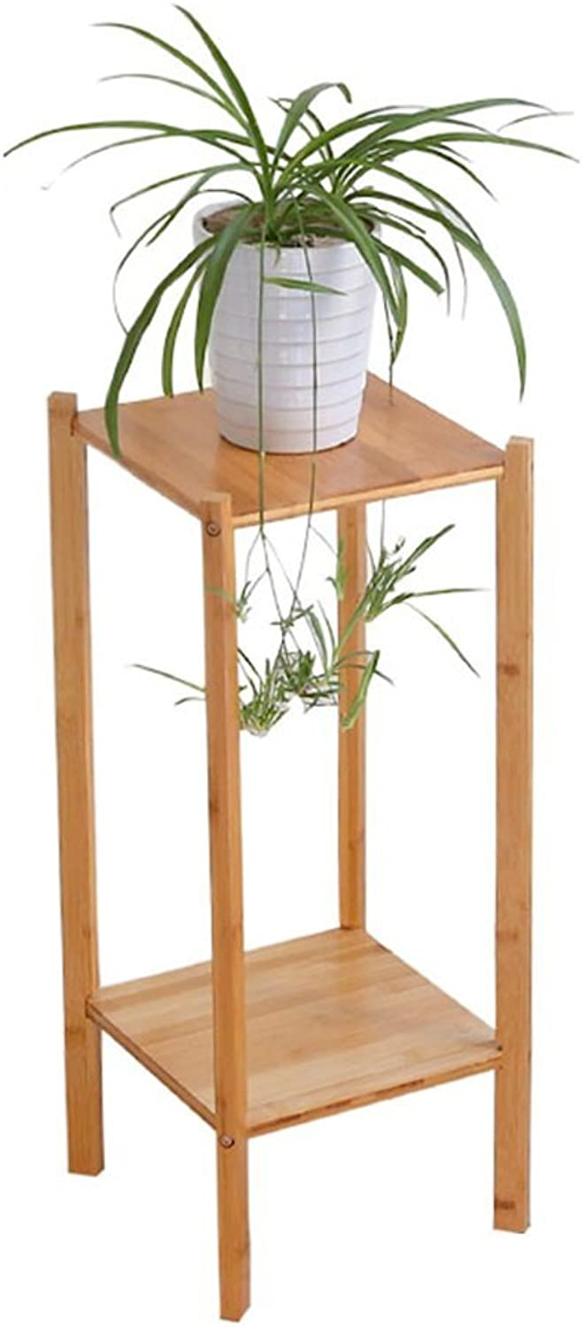 Gifts & Decor Plant Stand Shelf Indoor Plant Stand, Multilayer Creative Solid Wood Flower Pot Frame Floor Place Shelf Family Office Meeting Room Firm Flower Pot Shelf (Size   27  27  65CM)