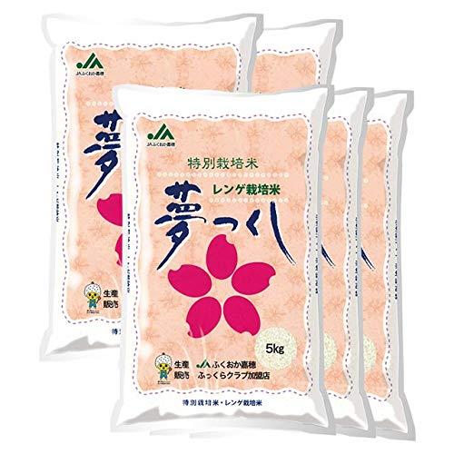 【出荷日に精米】 福岡県産 夢つくし 白米 25kg(5kg×5袋) 令和2年産 減農薬 レンゲ栽培 特別栽培米