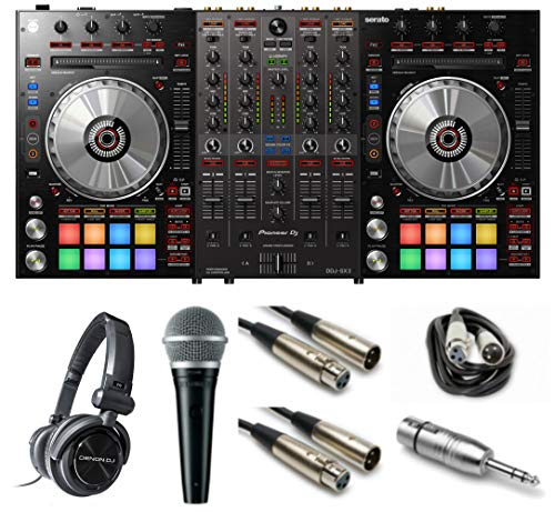 For Sale! Pioneer DJ DDJ-SX3 Gig Ready Bundle with Headphones, Mic, XLR Cables and Mic Adaptor