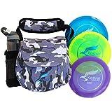 Kestrel Discs Golf Pro Set | 3 Disc Pro Pack Bundle + graue Camo Tasche | Discgolf-Set | inklusive Distanztreiber, Mitteltöner und Putter | kleine Disc Golftasche (grau Camo)