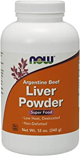 Now Supplements, Liver Powder derived from Fresh, Hormone-Free Argentine Beef Liver, 12-Ounce