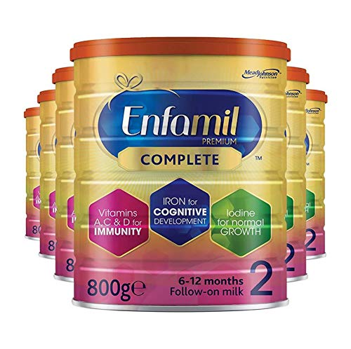 Enfamil Premium Complete Stage 2 Follow-on Milk Formula – Milk Powder for Infants from 6 Months to 1 Year (800g 6 Pack)