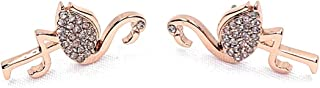 By The Pool Rose Gold Tone Flamingo Stud Earrings