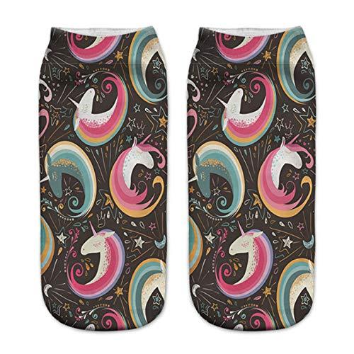 Ankle Socks 3D Print Milkshake Balls Fashion Socks Women Cute Print Socks Casual Women Girls Socks
