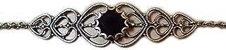 Black Onyx Celtic Elven Elf Silver Filigree Circlet Headpiece Headdress Crown Rennaissance Medieval Halloween Costume