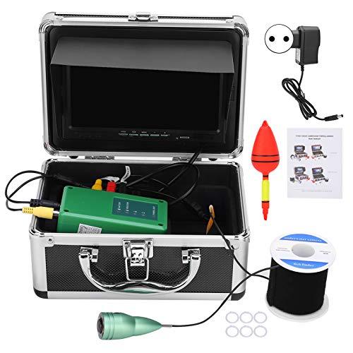 Lantro JS Cámara de monitoreo de Peces, cámara de Pesca subacuática de 6 Luces Blancas de Alta Potencia, para monitorear la exploración subacuática de la acuicultura(Transl)