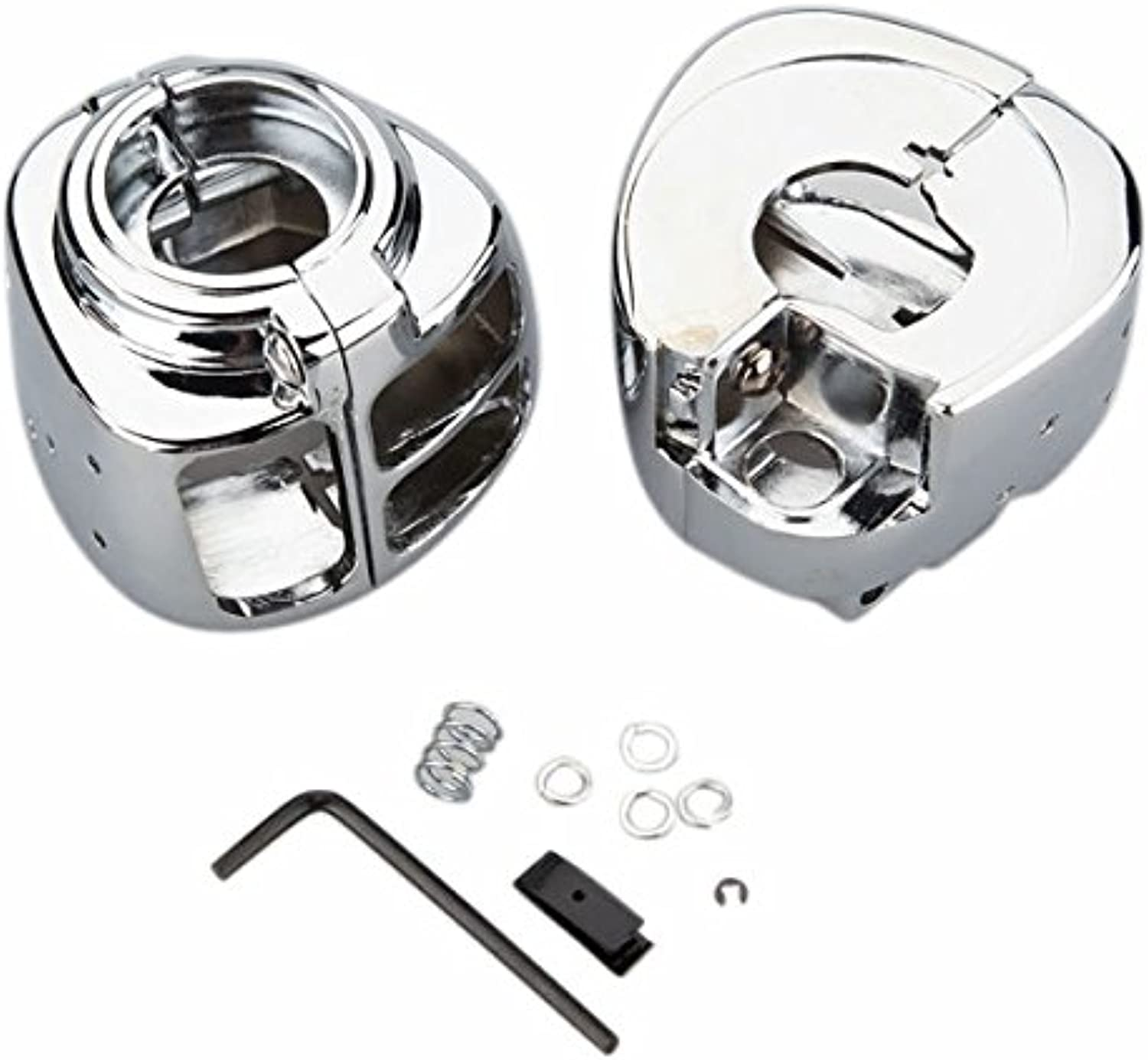 US Warehouse  Handlebar Switch Housing Replacement Kit for Harley Davidson Softail