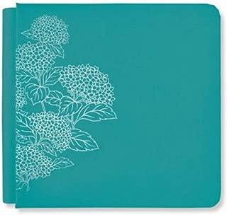 Creative Memories 8x8 Empress Teal Blue Harvest Blossoms Album Cover Hydangeas Scrapbook