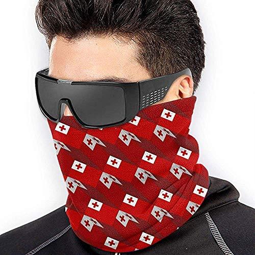 air kong Tonga Flag 3D Art Pattern Scarf Neck Gaiter Magic Headband Balaclava Hood Unisex Mask Bandana Winter Warm Headwear