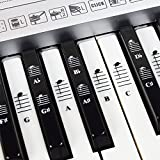 Piano and Keyboard Music Note Full Set Stickers for White and Black Keys with Piano Songs EBook;...