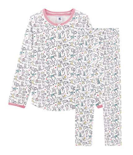 Petit Bateau Mädchen Pyjama_4986801 Zweiteiliger Schlafanzug, Mehrfarbig (Marshmallow/Multico 01), 98 (Herstellergröße: 3ans/95cm)