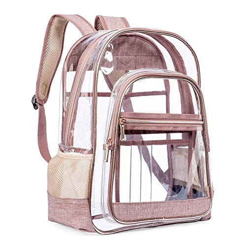 Sunneey Transparent PVC Rucksack Schulrucksack, durchsichtige Bibliothekstasche Studenten Backpack, klare wasserdichte Schultasche Schoolbag für Schüler Mädchen Damen