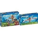 Playmobil Rey De Los Enanos Juguete, Multicolor (Geobra Brandstätter 9344) , Color/Modelo Surtido + Enano con Máquina Voladora Juguete, Multicolor (Geobra Brandstätter 9342)