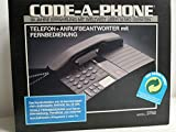 Code-A-Phone 3760 analoges Telefon und integriertem Anrufbeantworter mit Mikrokassette +...