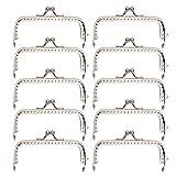 10 Uds.Marco de monedero, bolso de marco de metal cuadrado, cierre de cierre de marco de metal para fabricación de monedero, manualidades DIY