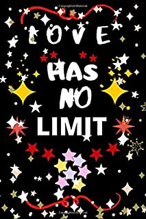 Love has no limit: Love notebook,lovely notebook with beautiful cover,Blank line notebook,Gift notebook.