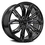 RTX BLACK WIDOW Custom Wheel - 17x7.5, 42 Offset, 5x114.3 Bolt Pattern, 73.1mm Hub - Satin Black Rim