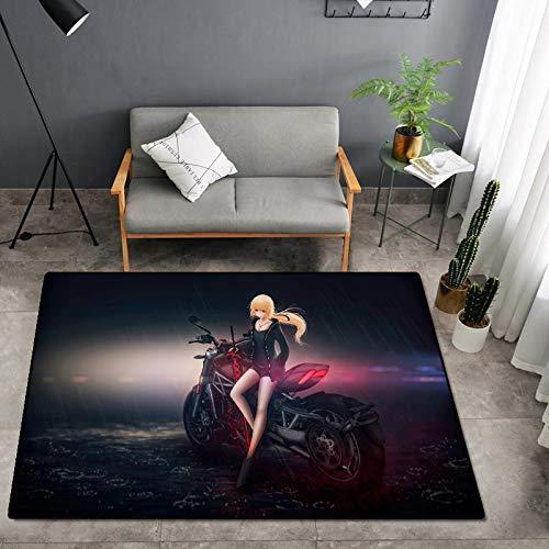 CXJC 62.99 * 39.37 * 0.236 en estera de almacenamiento de fitness de poliéster, dibujos animados en 3D impreso y teñido alfombra, estera de antideslizante multifuncional interior, suave y cómoda