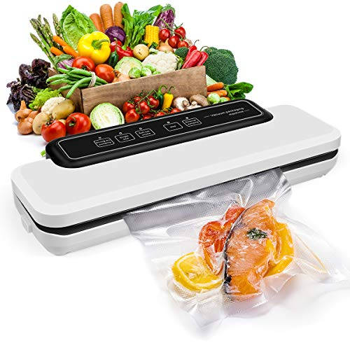 Vacuum Sealer Machine, Automatic Food Sealer for Food Savers w/Starter Kit| Led Indicator Lights| Easy to Clean| Dry & Moist Food Modes| Compact Design