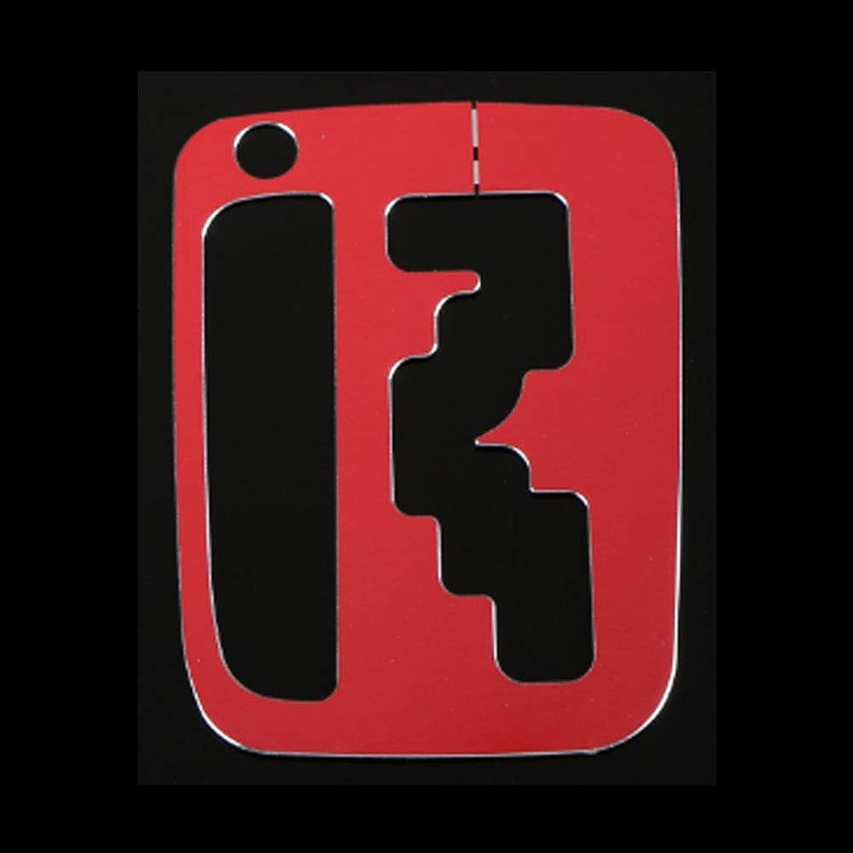 腹つらいソースJicorzo - Interior Gear Shift Box Cover Trim Console Transfer Frame Car-Styling Aluminum Alloy For Suzuki Jimny 2012-2016 Car Accessories [Red]