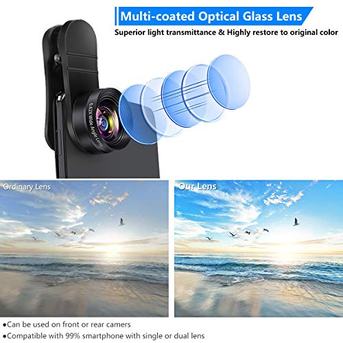 Phone Camera Lens Kit, Mikikin 5 in 1 Cell Phone Lens - 20X Telephoto Zoom Lens, 20X...