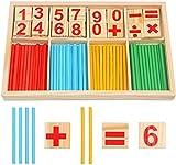 DERAYEE Montessori Mathe Spielzeug, Mathematik Spielzeug Holz Pädagogisches Mathe-Spielzeug für Kinder Zahlenlernspiel