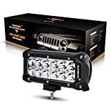 7 inch led light bar spot - Auxbeam 7 Inch LED Light Bar 36W LED Driving Light Spot LED Work Light Waterproof LED Lights for Trucks Car Pickup ATV Jeep Motorcycle Boat Golf Cart with Mounting Brackets