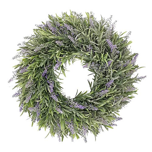 Easter Wreath Front Door, Lavender Simulation Garland Ring Field Pendant Door Knocker Round Wreath, Artificial Flowers Decoration for Festival Party Wedding