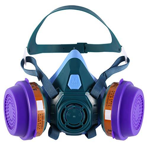 HOLULO Media Facial Mascarilla, Protección Respirador Facial Máscara de Seguridad para...