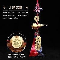 中国結び風水仏教の6つのマントラを飾るWuLouHuLu銅合金ひょうたんお守り家の装飾アクセサリー (BRXJ HLCG)