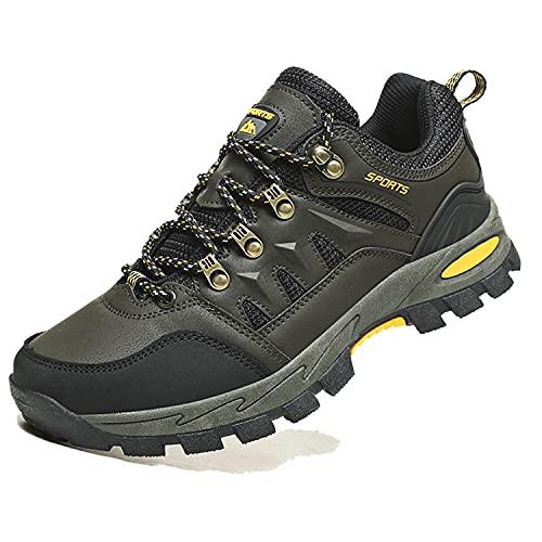 VTASQ Zapatillas de Senderismo Hombre Zapatillas Trekking Antideslizantes Transpirable Botas Montaña Bajas Zapatillas de...