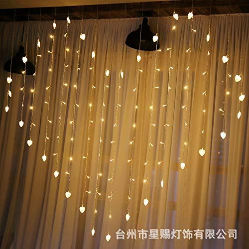 Led-hanglamp in hartvorm led-lamp in hartvorm snoer liefdeskleurige lichten gekleurde lichten decoratieve knipperlichten led-ijspegellampen, kleur, insteekbaar zonder hanger
