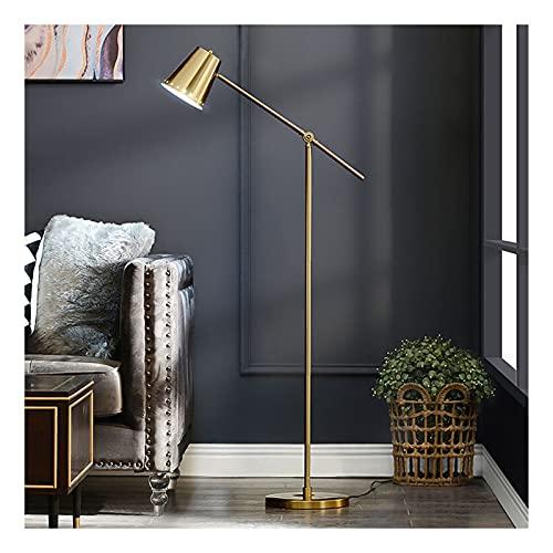 Indoor Moderne vloerlamp voor woonkamers LED-staande lampen voor slaapkamers Tall Pole Gold Light voor het lezen van…