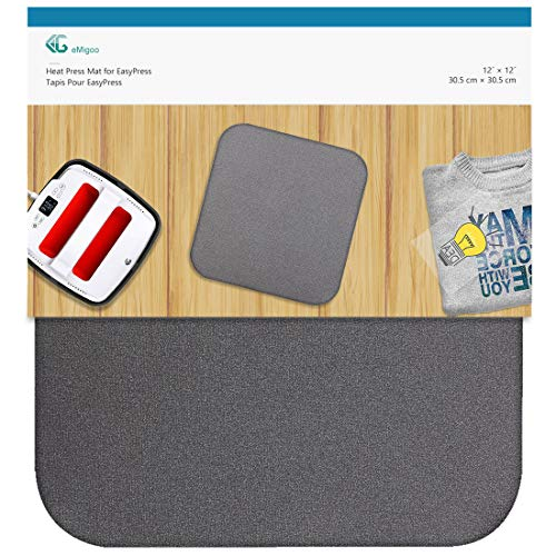 Heat Press Mat for Cricut Easypress, T Shirts and HTV Vinyl Projects, 12 x 12 inches