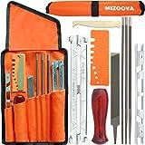 MIZOOVA - Affuteuse de Tronçonneuse Professionnel 10 Pièces, Kit d'affûtage de Chaîne avec Lime Ronde 4.0-4.8 - 5.5 mm