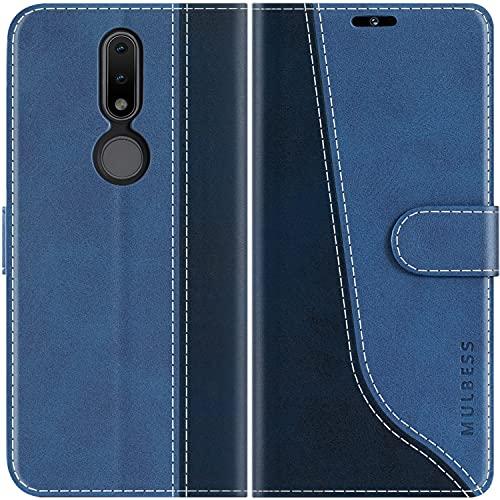 Mulbess Handyhülle Kompatibel mit Nokia 2.4 Hülle Leder, Etui Flip Handytasche Schutzhülle für Nokia 2.4 Hülle, Diamant Blau