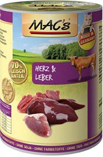 Mac's Katzenfutter getreidefrei Herz & Leber, 400g
