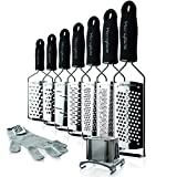 EASY TO CLEAN: Top rack dishwasher safe. Hand wash cover. We recommend rinsing your Cheese Grater in warm water immediately after each use. Remove trapped particles from the non-sharp side whenever possible. To remove trapped particles on the front, ...