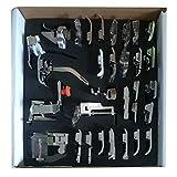 32 pcs Set Máquina de coser Prensatelas Juego de accesorios costura domésticos profesionales para Singer, Brother, Janome, Kenmore, Babylock, Elna, Toyota, New Home, Simplicity y Low Shank