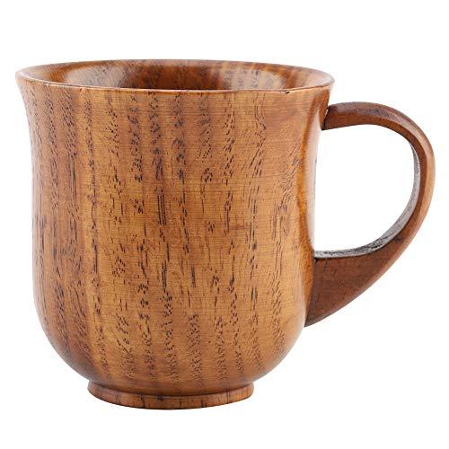 Zerodis Naturholz-Becher mit Henkel aus Holz zum Trinken von Tee, Kaffee, Wein, Bier, Heißgetränke, Saft, Milch (#2)