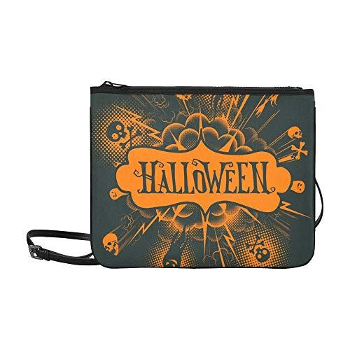 WYYWCY Halloween benutzerdefinierte hochwertige Nylon dünne Clutch Tasche Umhängetasche Umhängetasche