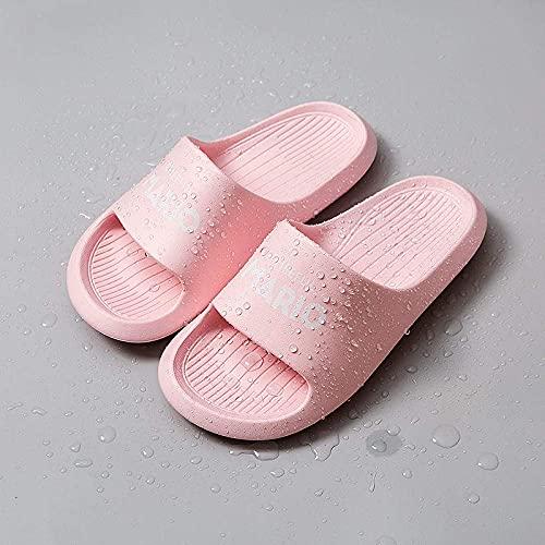 LDDZB Zapatillas Antideslizantes para Mujer, Pareja de baño Sandalias, Zapatos de una Sola Palabra-Pink_35 / 36, Ducha Sandalias Casa (Color : Pink, Size : 3.5/4.5)