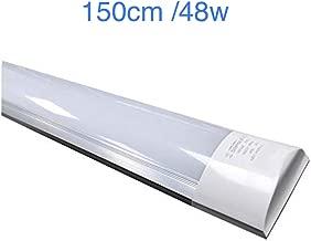 (LA) Pantalla 150cm,Tubo led integrado T8, 48w, a prueba de polvo equivalente a 2 tubos fluorescentes grandes o Led 4800 lumenes reales! Regleta led slim. (Blanco frio (6500K))