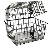 artex 34.53.55 Cestino Bici Posteriore/Anteriore per Cane/Gatto Pet per Cani di Piccole Dimensioni Nero Misure Cm 40x30x33h con Fissaggio Incluso, è Necessario Il Portapacchi