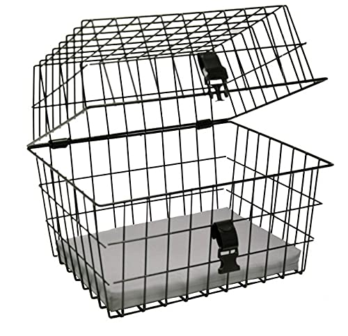 artex 34.53.60 Cestino Bici Posteriore/Anteriore per Cane/Gatto Pet per Cani di Medie Dimensioni Nero Misure Cm 45x37x36h con Fissaggio Incluso, è Necessario Il Portapacchi