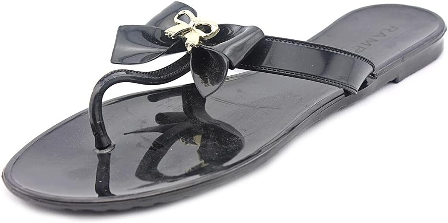 Rampage Women's Obrinsky Jelly Thong Sandals in Black Size 7