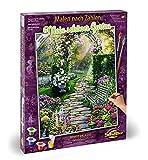 Schipper 609130804 Peinture par numéros – Mon Beau Jardin – Peinture pour Adultes avec Pinceau...